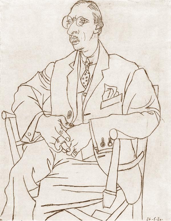 Пабло Пикассо. Портрет Игоря Стравинского, 1920